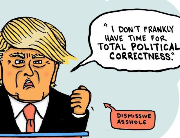 popranwość polityczna trump